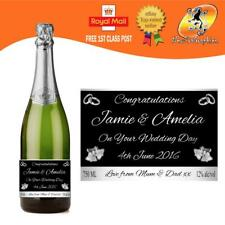 PERSONALISED PROSECCO BOTTLE LABEL WEDDING ENGAGEMENT ANY OCCASION GIFT