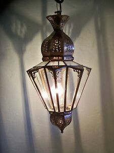 Lustre Marocain fert forgé p5 lampe lanterne plafonnier applique luminaire 60 cm