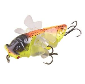 Cicada Whopper Topwater Popper Fishing Lures Double Propeller Artificia Bait