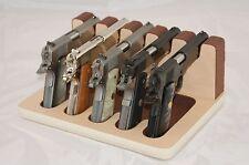 Pistol 5 Gun Rack Stand 503 Maple Brown Cabinet Safe