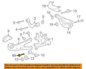 Lexus TOYOTA OEM 10-18 RX350 Rear Suspension-Track Bar Bolt 90119A0376