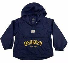 Osh Kosh Boys Packable Wind Breaker Rain Jacket Navy Blue Size 6/7