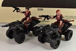 Action Figure Weapon ATV Female Lot Custom Vehicle GI Joe 3 3/4 3.75 1/18