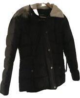 Lauren Ralph Lauren Womens Full Zip Fleece Lined Jacket Black Size Small