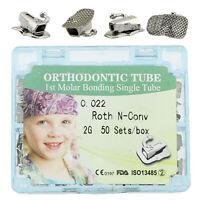 200 Pcs Dental Orthodontic Bonding Roth 022 1St Molar Single Buccal Tubes 2GE