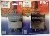 EBC Organic FRONT Disc Brake Pads Fits HONDA VTR1000 FIRESTORM (1997 to 2006)