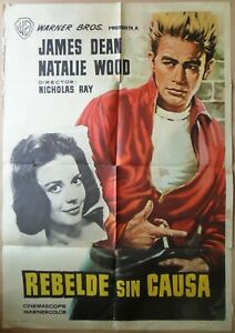 Rebel Without a Cause ORIGINAL Spain '64 POSTER James Dean Natalie Wood MCP art