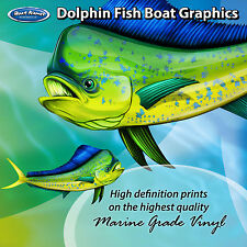 Dolphin Fish Graphics - set of 600mm Boat Graphics
