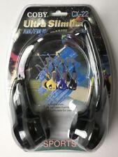 Coby CX22 Ultra Slimline AM/FM Headphone Radio Sports Headset CX-22 NEW Sealed