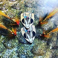 4 V Fly Ultimate Low Water Hot Gold Cascade Treble Salmon Flies Size 10 & 12