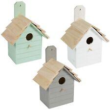 Wooden Nesting Boxes Nest Box Birdhouse Small Wild Birds Blue Tit Robin Sparrow