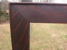 c1900 Dark Fumed QUARTER SAWN Solid TIGER OAK Mission Arts Crafts Antique Frame