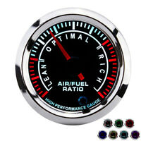 52mm Car Truck Motorcycle Air Fuel Ratio Gauge 7 Colors Backlight Universal