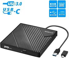 External DVD Drive USB 3.0 USB C CD Burner Amicool CD/DVD +/-RW Optical Drive