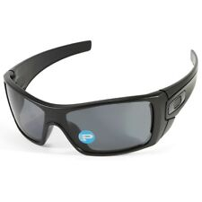 Oakley Batwolf OO9101-04 Matte Black/Grey Polarised Men's Shield Sunglasses
