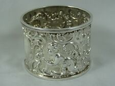 More details for superb, victorian silver napkin ring, 1894, 31gm