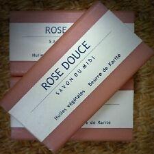 Savon du Midi 3er Pack Rose Douce Karité-Seife 3x100 Naturkosmetik Shea vegan