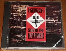 Manowar Sign of the Hammer CD  1984 UK release on 10 Records