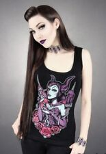 Restyle Maleficent Womens Singlet Gothic Punk Horror Rockabilly Alternative M