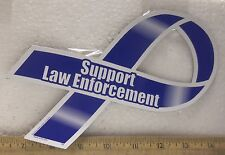 Support Law Enforcement Blue Magnetic Ribbon