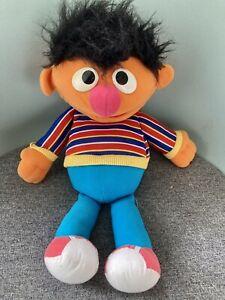 SESAME STREET Hand Puppet Plush Ernie. Vintage. Muppets Etc Burt & Ernie