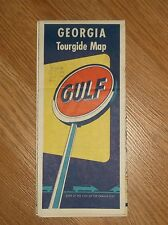 VINTAGE GULF TOURGIDE MAP-GEORGIA FOLD-OUT