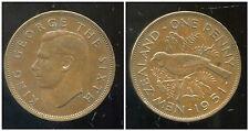 NOUVELLE ZELANDE  one 1 penny  1951  ANM
