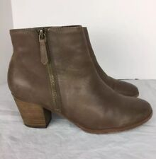 7c91d1c7fdb Crown Vintage Brown Leather Booties Size 6 1 2 M