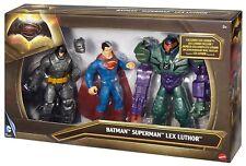 BATMAN V SUPERMAN 3 Action Figure 15 cm -Batman, Superman, Lex Luthor- Mattel