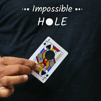 Magician's Impossible Hole Magic Trick Use Any Small Object Thru Card Gimmick