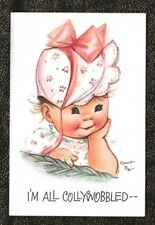 Unused CHARLOT BYJ BELATED Birthday Card Little Girl with Hat Collywobbled