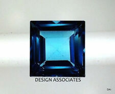 LONDON BLUE TOPAZ NATURAL 8  MM SQUARE CUT 1  PIECE SET $18.99 AAA