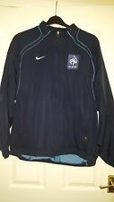 Mens Long Sleeve Football Jacket - France FFF - Nike - Dark Blue - Size L