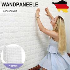 3D Tapete Wandpaneele Selbstklebend Ziegel Wasserfest Wandaufkleber 10-50 Set