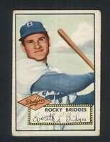 1952 Topps #239 Rocky Bridges VG/VGEX RC Rookie Dodgers 108620