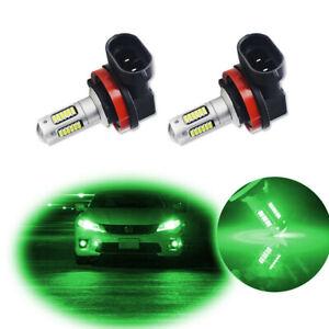 For 2006-2015 Honda Accord Green H8 H11 LED Fog Driving Lights DRL Lamp Bulbs
