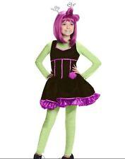 Novi Stars Alien ALIE LECTRIC Halloween Trick-Or-Treat Costume Kids LG 12-14 NEW