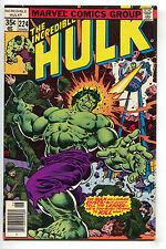 Incredible Hulk 224 Marvel 1978 NM- Leader Thor Hostess Twinkies Ad Soldiers