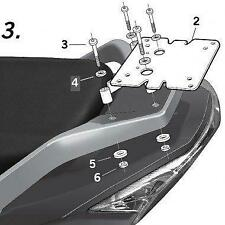 Daelim S3 125 /S3 250 Q3 Shad Top Box and Fitting Kit 2010-2020