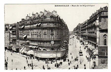 Rue de la Republique - Marseille Photo Postcard c1910