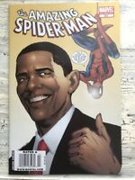MARVEL THE AMAZING SPIDER-MAN -BARACK OBAMA 2nd Print Variant #583 -Unread Copy!