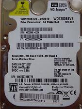 Western Digital WD1200BEVS-22UST0   HHCTJABB   09 OCT 2007   120GB