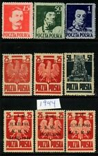 Poland MNH 1944 Complete Year set