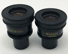 NIKON CFW10X MICROSCOPE EYEPIECES PAIR