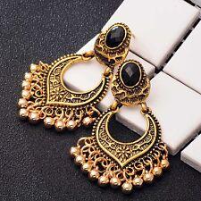 Women Vintage Carved Gold/Silver Color Tassel Drop Dangle Hook Earrings Jewelry