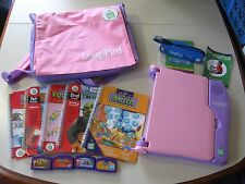 Leap Pad Leap Frog Pink Learning System w/ pink back pack, games & light, works