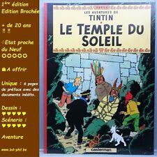 Tintin, 13, Le temple du Soleil, Hergé, Casterman, EO Brochée, 1999, EN, préfacé