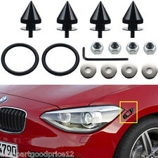 BLACK SPIKED ALUMINUM BUMPER QUICK RELEASE FASTENERS KIT FOR CAR TRUNK HATCH LID