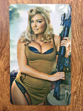 USA ARMY BABE Sexy Pin Up Girl Fridge Magnet - playboy retro vargas gift ww2