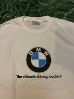 Vintage 90s BMW Lifestyle T-Shirt Made In The Usa Size M White Rare Vtg Clean